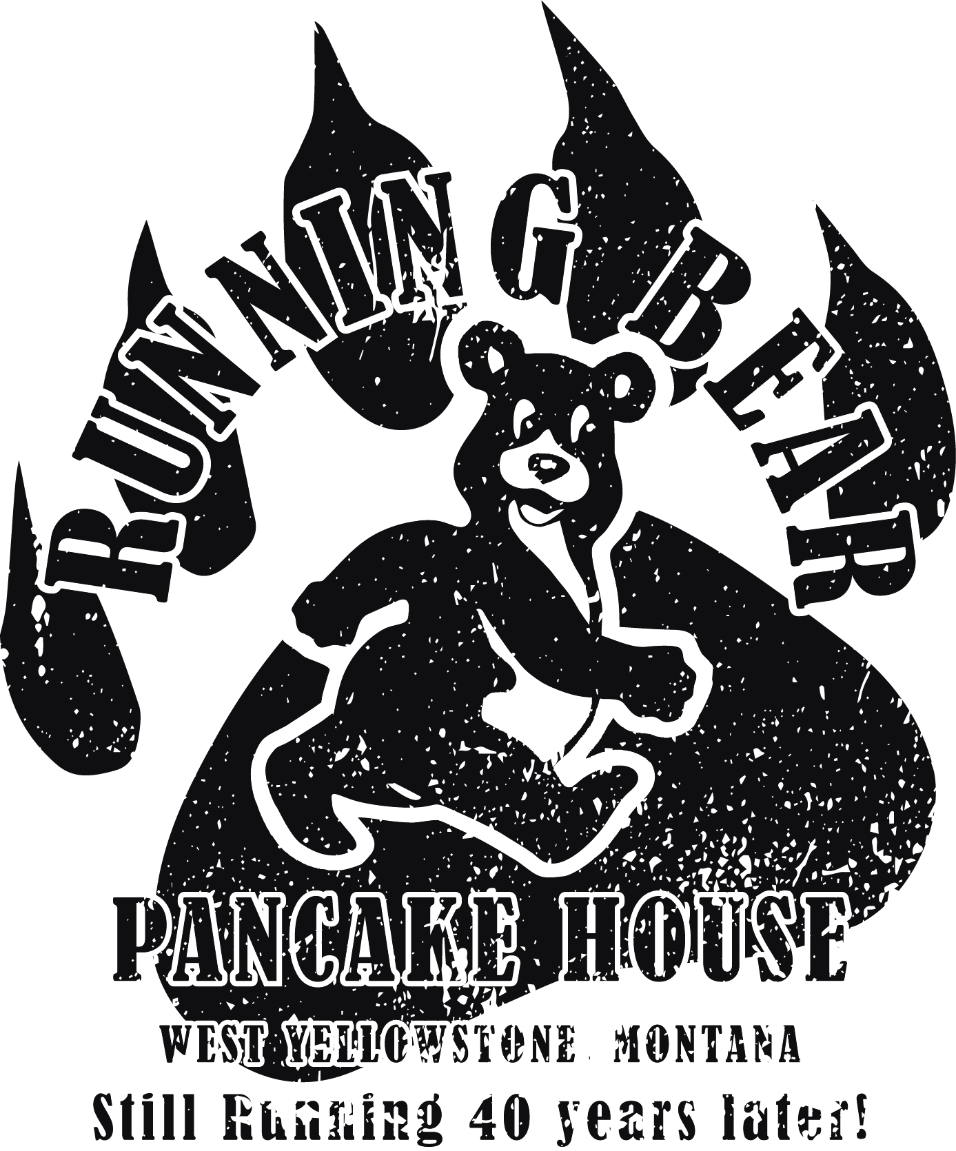 Running Bear Pancake House Logo